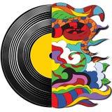 Душа в музыке, абстрактной фантазии, показателе винила стоковая фотография rf