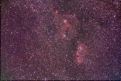 Душа и сердце межзвёздного облака астрономический объект стоковое изображение