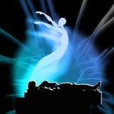 Душа и через жизнь смерти после смерти, жизни после смерти Стоковая Фотография RF