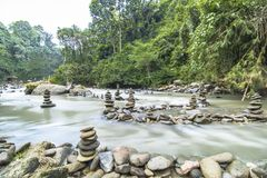 Душевное спокойствие Жизнь уравновешения стоковая фотография