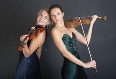 Дуэт скрипки Стоковое Фото