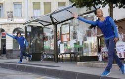 дуэт танцоров стоковая фотография rf