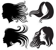 дуя женщина волос длинняя иллюстрация штока