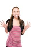 дуя женщина пузыря молодая Стоковые Изображения RF