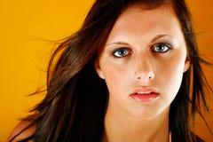 дуя портрет волос Стоковое Фото