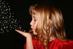 дуя sparkles стоковая фотография