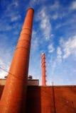 дымовые трубы стоковая фотография rf