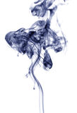 Дым, белая предпосылка Стоковые Фото