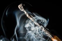 Дым вокруг спички Стоковое фото RF