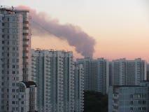 Дым в городе Стоковое Изображение RF