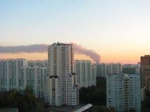 Дым в городе Стоковое фото RF