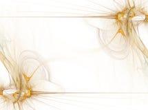 дым дела граници золотистый графический Стоковые Изображения RF