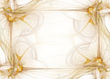 дым дела граници золотистый графический Стоковое Изображение