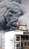 дым дома пожара Стоковые Фотографии RF