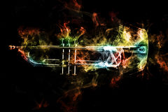 Дым джаза трубы абстрактный стоковое фото