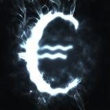 дым знака евро Стоковое Фото