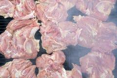 Дым и мясо Стоковые Фотографии RF