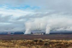 Дым от печной трубы фабрики Стоковое фото RF