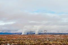 Дым от печной трубы фабрики Стоковое Изображение RF