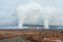Дым от печной трубы фабрики Стоковая Фотография RF