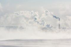 Дым от печной трубы Стоковая Фотография RF