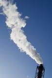 Дым от печной трубы Стоковое Изображение