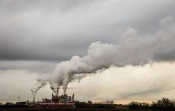 Дым от печных труб Стоковое Фото
