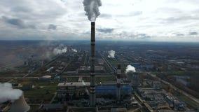Дым от промышленных фабрик и заводов загрязнение фото кризиса экологическое относящое к окружающей среде дел сток-видео