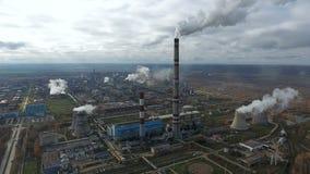 Дым от промышленных фабрик и заводов загрязнение фото кризиса экологическое относящое к окружающей среде дел видеоматериал