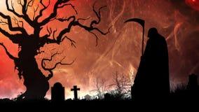 Дым преследующего с смертью иллюстрация штока