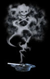дым сигареты ядовитый Стоковое фото RF