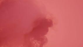 Дым с красным светом Стоковое Изображение