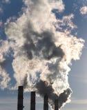 дым труб Стоковая Фотография RF