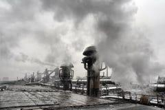 Дым тяжелой индустрии Стоковые Фотографии RF