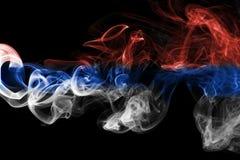 Дым флага Сербии Стоковые Фото