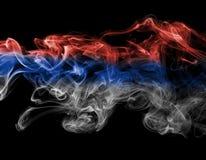 Дым флага Сербии Стоковые Изображения RF
