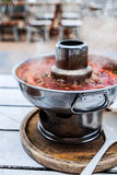 Дым hotpot kung Тома yum нержавеющий Стоковое Изображение RF