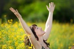 дыхание принимая женщину Стоковое Фото