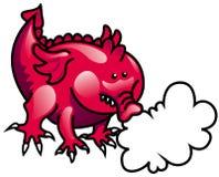 дышая пинк пожара дракона Стоковая Фотография RF