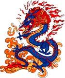 дышая пожар дракона Стоковое Изображение RF