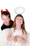 дьявол ангела Стоковые Фотографии RF