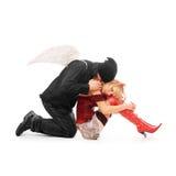 дьявол ангела Стоковое Изображение