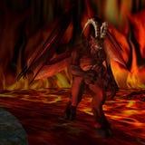 дьявол предпосылки иллюстрация штока