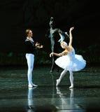 Дьявола Luo Tebaerde повреждения- озеро лебед Берег озера-балета вечера поступка во-вторых Стоковые Фото