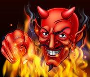 Дьявол в огне ада бесплатная иллюстрация