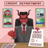 Дьявольский кредит. иллюстрация штока