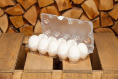 Дюжина из белых яичек Стоковое Изображение RF