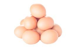 Дюжина коричневых яичек цыпленка Стоковая Фотография RF