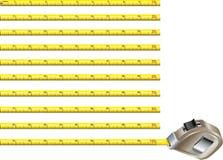 дюймы версии ленты измерения стальной Стоковое фото RF