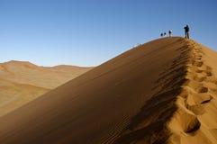 дюна альпинистов Стоковое Изображение